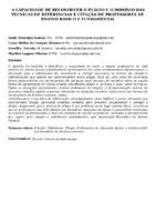 A CAPACIDADE DE RECONHECER O PLÁGIO E O DOMÍNIO DAS TECNICAS DE REFERENCIAS E CITAÇÃO DE PROFESSORES DE  ENSINO BÁSICO E FUNDAMENTAL