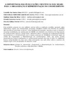 A IMPORTÂNCIA DAS PUBLICAÇÕES CIENTÍFICAS DOS NEABS PARA A ORGANIZAÇÃO E REPRESENTAÇÃO DO CONHECIMENTO