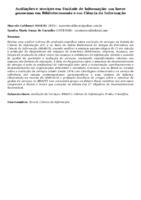Avaliações e serviços em Unidade de Informação: um breve panorama em Biblioteconomia e em Ciência da Informação