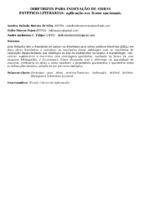 DIRETRIZES PARA INDEXAÇÃO DE OBRAS ESTÉTICO-LITERÁRIAS: aplicação em livros nacionais.