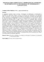 POLÍTICAS PARA CURRÍCULO E A ABORDAGEM DA SOCIEDADE DA INFORMAÇÃO E AS TECNOLOGIAS DE INFORMAÇÃO E COMUNICAÇÃO
