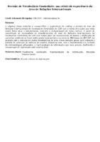 Revisão de Vocabulário Controlado: um relato de experiência da área de Relações Internacionais