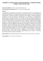 SEMIÓTICA NA DOCUMENTAÇÃO ESPANHOLA: CONSIDERAÇÕES SOBRE A DÉCADA DE 1980