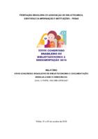 Relatório do 28o. Congresso Brasileiro de Biblioteconomia e Documentação (2019)