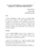 O Consórcio CRUESP/Bibliotecas: a gestão compartilhada e participativa no estabelecimento de diretrizes futuras.