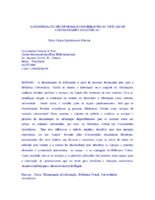A disseminação de informação em bibliotecas virtuais de Universidades Amazônicas.