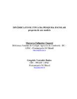 Dinâmica evolutiva da pesquisa escolar:  proposta de um modelo.