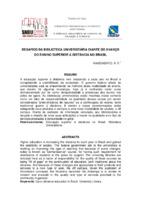 Desafios da biblioteca universitária iante do avanço do ensino superior à distância no Brasil.