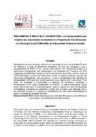 Bibliometria e biblioteca universitária: um estudo analítico das citações das dissertações de mestrado do Programa de Pós-Graduação em Psicologia Social (2004-2006) da Universidade Federal da Paraíba.