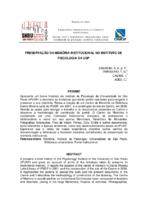 Preservação da memória institucional no Instituto de Psicologia da USP.