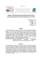 Acesso a bancos de dados de conteúdos científico: o caso da Universidade do Sul de Santa Catarina e seus convênios.