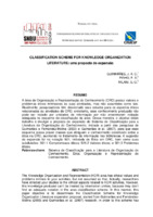 Classification scheme for knowledge organization literature: uma proposta de expansão.