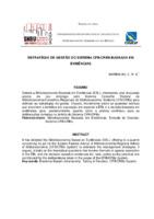 Estratégia de gestão do Sistema CFB/CRBSs baseada em evidências.