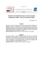 Análise da aplicabilidade: apoio ao serviço de aquisição bibliográfica da UNIUBE – Relato de uma rotina de trabalho.