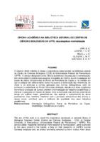 Oficina acadêmica na Biblioteca Setorial do Centro de Ciências Biológicas da UFPE: da pesquisa à normalização.