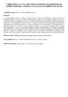 A biblioteca à luz dos pressupostos filosóficos de Anísio Teixeira: perfil e atuação no âmbito escolar.