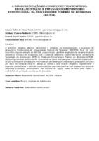 A democratização do conhecimento científico: regulamentação e expansão do Repositório Institucional da Universidade Federal de Rondônia  (RIUNIR).