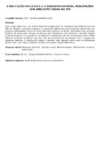 A educação inclusiva e a biblioteconomia: percepções dos bibliotecários do IFB.