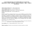 A necessidade do uso do descarte no acervo da Biblioteca Prof°  Alberto Carlos Barbosa - IFRJ – Campus Nilópolis.