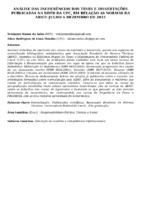 Análise das incoerências das teses e dissertações publicadas na BDTD da UFC, em relação às normas da ABNT: julho a dezembro de 2015.