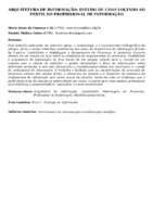 Arquitetura de informação: estudo de caso voltado ao perfil do profissional de informação.