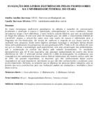 Avaliação dos livros eletrônicos pelos professores na Universidade Federal do Ceará.