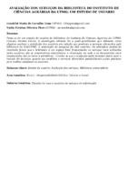 Avaliação dos serviços da Biblioteca do Instituto de Ciências Agrárias da UFMG: um estudo de usuário.