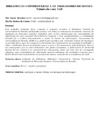 Bibliotecas Universitárias e os indicadores do SINAES: estudo do caso UnB.