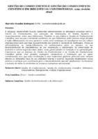 Gestão do conhecimento e gestão do conhecimento científico em bibliotecas universitárias: uma revisão atual.