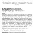 Identificação de requisitos de qualidade demandados por usuários de biblioteca universitária: um estudo de caso.