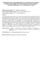 Informatização das bibliotecas do Instituto Federal de Educação, Ciência e Tecnologia do Pará (IFPA): sistema Pergamum, da concepção à ação.