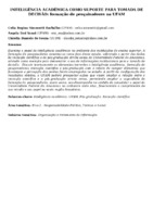 Inteligência acadêmica como suporte para tomada de decisão: formação de pesquisadores na UFAM.