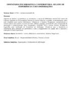 Inventário em biblioteca universitária: relato de experiência e recomendações.