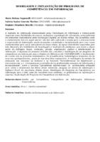 Modelagem e implantação de programa de competência em informação.