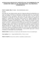 O desenvolvimento de competências em informação em ambientes virtuais de aprendizagem: uma proposta experimental.