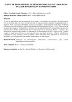 O uso de indicadores de desempenho da ISO 11620 para avaliar bibliotecas universitárias.