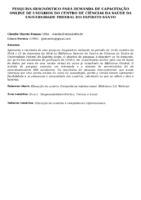 Pesquisa-diagnóstico para demanda de capacitação online de usuários do Centro de Ciências da Saúde da Universidade Federal do Espírito Santo.