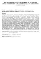 Política institucional de informação no Colégio Pedro II: diretrizes para a implantação de repositório institucional.