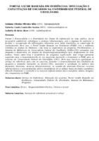 Portal Saúde Baseada em Evidências: divulgação e capacitação de usuários na Universidade Federal de Uberlândia.
