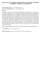 Processo de aquisição bibliográfica: fatores externos e internos a serem considerados.