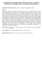 Sociedade da Informação e mídias sociais: o papel das bibliotecas e dos bibliotecários do Instituto Federal Goiano.