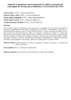 Suporte à pesquisa e gerenciamento de dados: proposta de concepção de serviço para Biblioteca Universitária da UFSC.