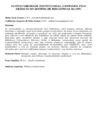 Sustentabilidade institucional: campanha pelo silêncio no Sistema de Bibliotecas da UFU.