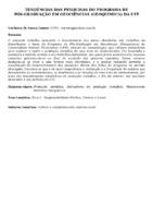 Tendências das pesquisas do Programa de Pós-graduação em Geociências (geoquímica) da UFF.