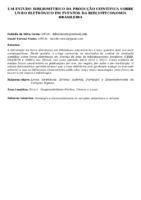 Um estudo bibliométrico da produção científica sobre livro eletrônico em eventos da biblioteconomia brasileira.