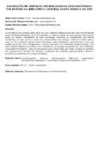 Valoração de serviços em bibliotecas universitárias: um estudo na Biblioteca Central Santa Mônica da UFU.