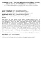 Webmarketing e o desenvolvimento de uma política de redes sociais: estudo de caso da Biblioteca Universitária da Universidade Federal de Lavras.