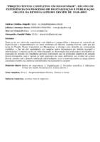"""""""Projeto textos completos em Hanseníase"""": relato de experiência do processo de digitalização e publicação online da Revista Leprosy Review ed 1928 a 2001."""