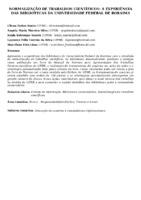 Normalização de trabalhos científicos: a experiência das bibliotecas da Universidade Federal de Roraima. (Pôster).