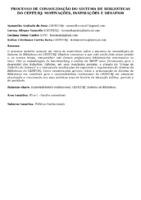 Processo de consolidação do Sistema de Bibliotecas do CEFET/RJ: motivações, inspirações e desafios. (Poster)